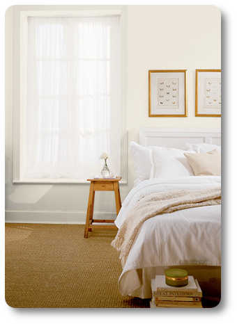 Paint color matters greatly in a small bedroom