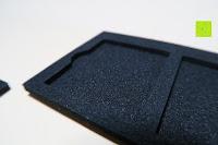 Einlage innen: Premium Schützendes Gehäuse für Aluminium Speicherkarte Tragetasche mit anpassbarem Innerem von CamKix - Organisieren und schützen Sie Ihre SD-Karten, Micro SD-Karten, Memory Stick und Compact Flash (CF) Speicherkarten (Kompatibel mit allen Speicherkarten Marken wie Sandisk, Transcent, Kingston, Sony, Lexar usw.) enthält den Speicherkarten Gehäusehalter / 4 Benutzerdefinierte EVA Einsätze / Klebesticker - Ideal für Reisen oder Aufbewahrung zuhause