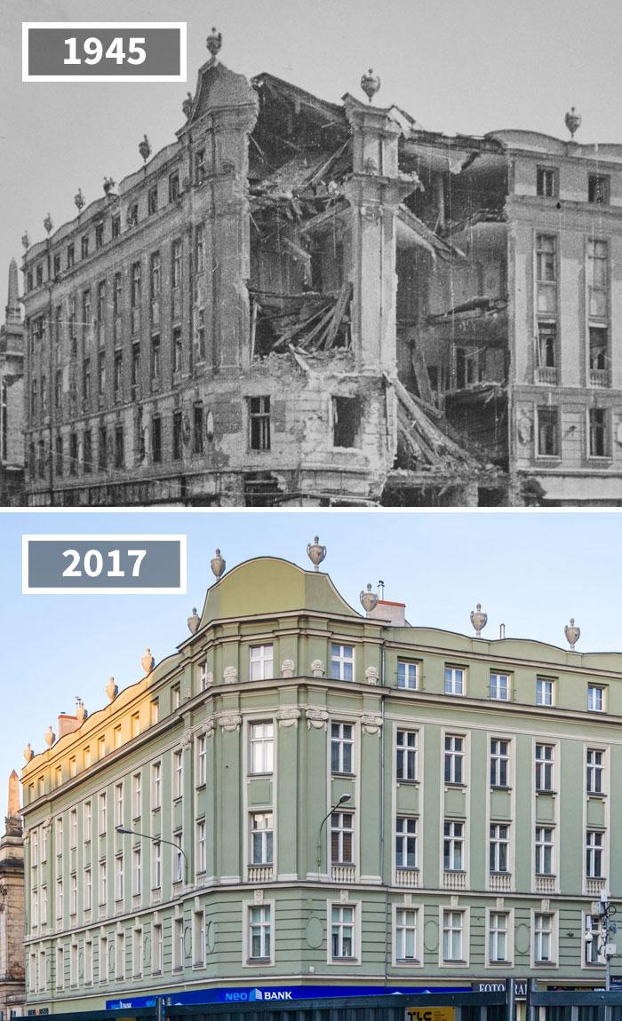 Corner Of Ratajczaka And Św. Marcin Streets, Poznań, Poland, 1945 - 2017