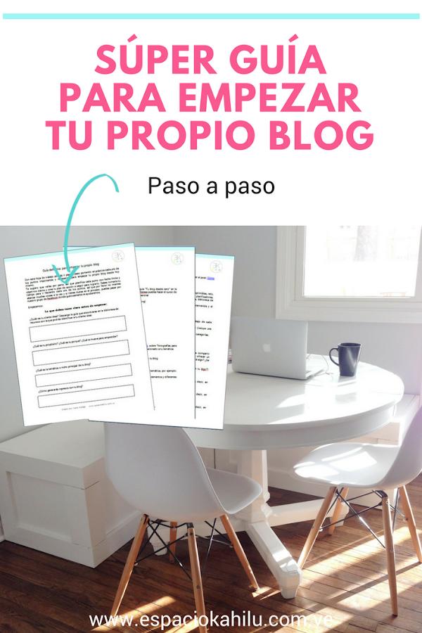 guia definitiva para empezar tu propio blog