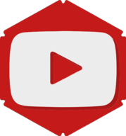 youtube hexagon icon