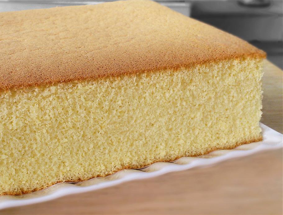 castella cake with beautiful crumb
