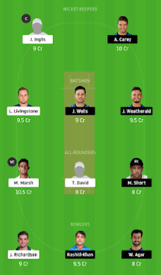 STR vs SCO dream 11 team | SCO vs STR