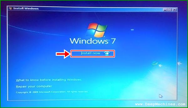 Panduan Instalasi Windows 7 pada sebuah Laptop / Desktop Komputer