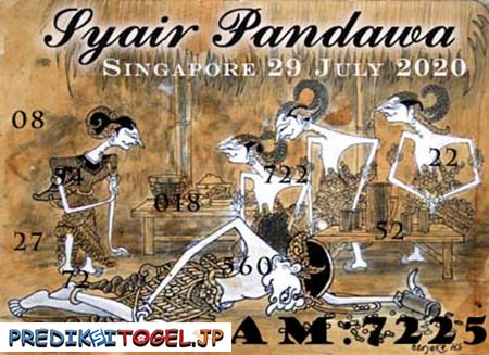 Syair Pandawa SGP Rabu 29 Juli 2020