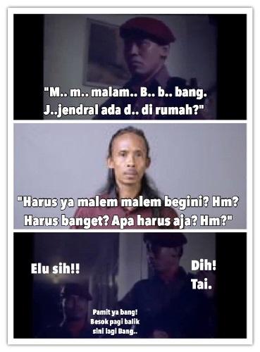 10 Meme 'Scene Film G30S/PKI' ala Generasi Milenial, Begini Deh Jadinya