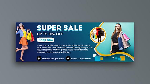 Fashion Sale Social Media Banner Design Free Vector Template Download