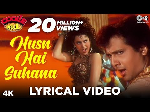 Husn Hai Suhana Lyrics- Coolie No. 1| Govinda