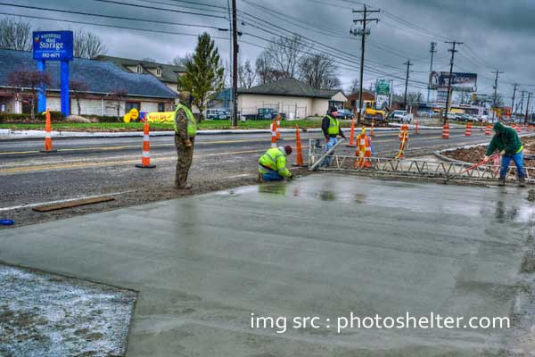 Pengecoran beton ketika hujan tidak cepat kering
