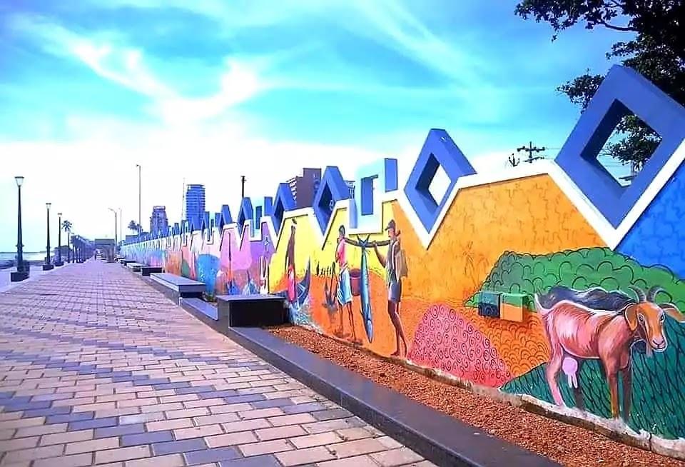 Wall Paintings on Kozhikode Beach