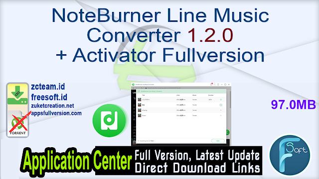 NoteBurner Line Music Converter 1.2.0 + Activator Fullversion