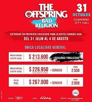 Concierto de THE OFFSPRING + BAD RELIGION en Bogotá POS 2