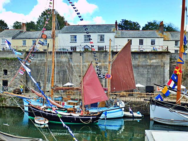 Charlestown Harbour, Cornwall sailing boats