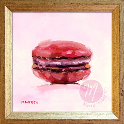 pink-macaron-oil-painting-merrill-weber