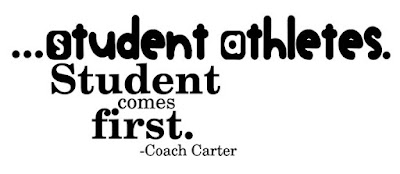 Quotes About University Life: student athletes. student first.