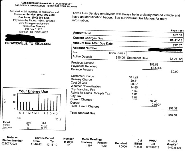 The Great Texas Gas Service Ripoff Gas Is Just 31 Of The Bill