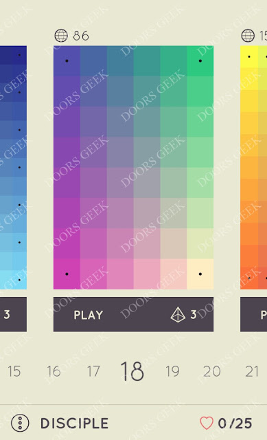I Love Hue Disciple Level 18 Solution, Cheats, Walkthrough