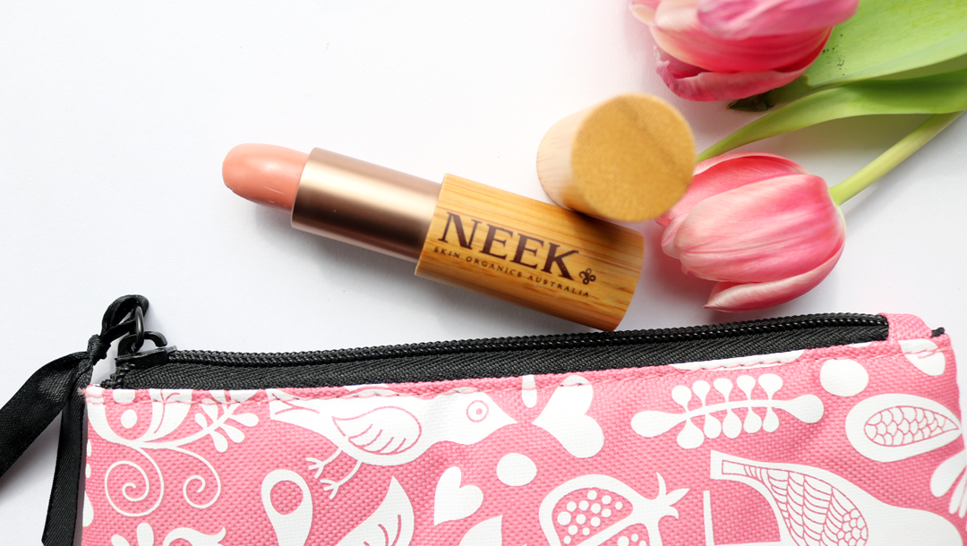 NEEK Skin Organics Australia Natural Lipstick in Come Into My World review swatches
