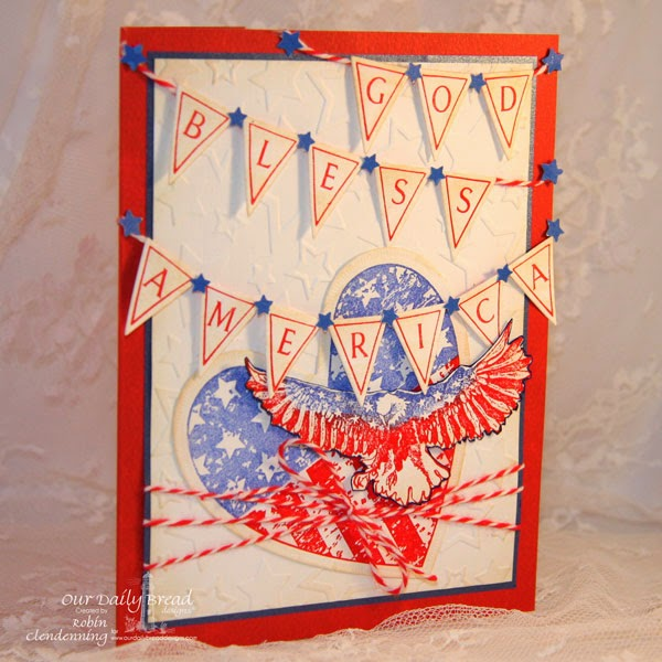 Our Daily Bread Designs, Pennant Alphabet, Patriotic Eagle 2, Heart and Soul, Pennants, Ornate Hearts, Robin Clendenning-designer