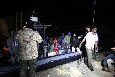 Libyan coastguards rescue over 1000 African migrants including women and children