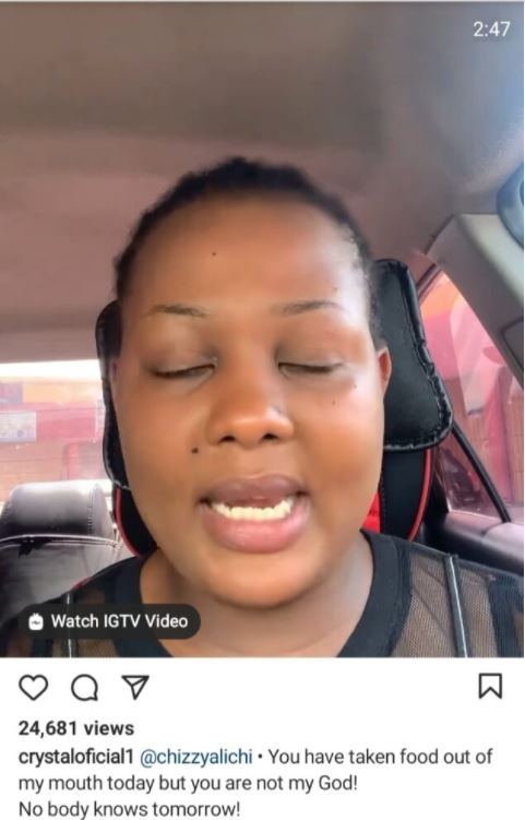 Crystal Okoye Calls Out Chizzy Alichi