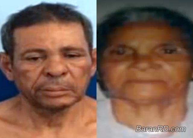 Hipólito Paulino Rodríguez y su madre Lucila Rodriguez