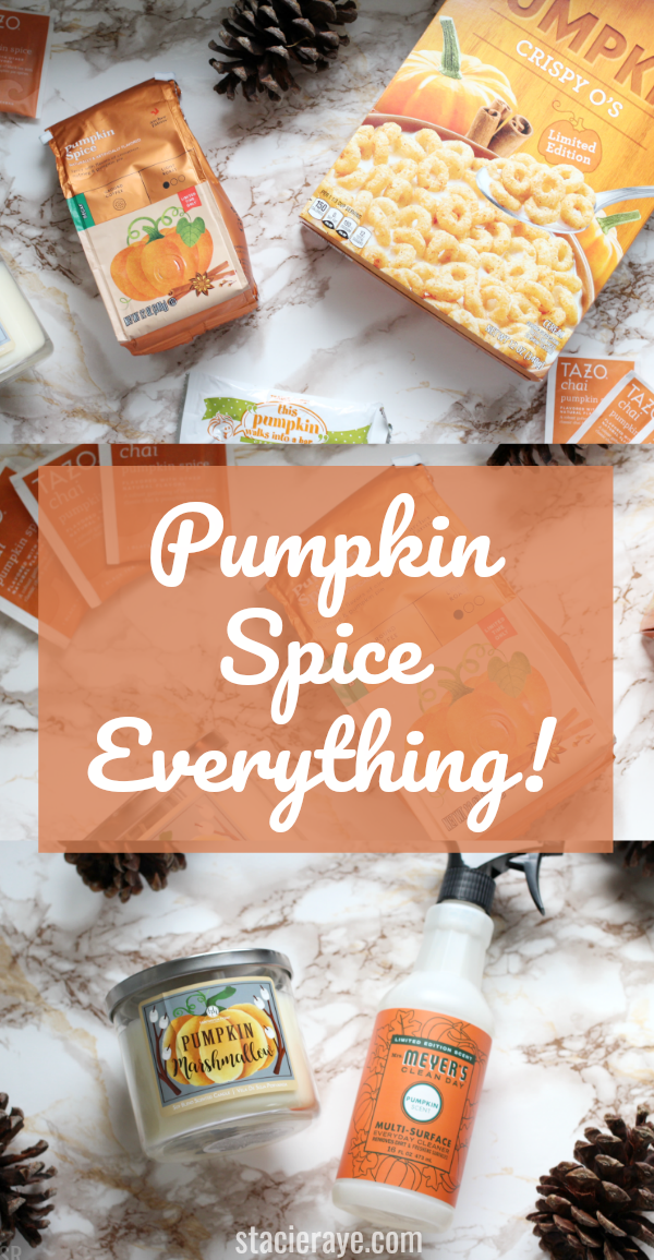 Pumpkin Spice Foods on a marble table