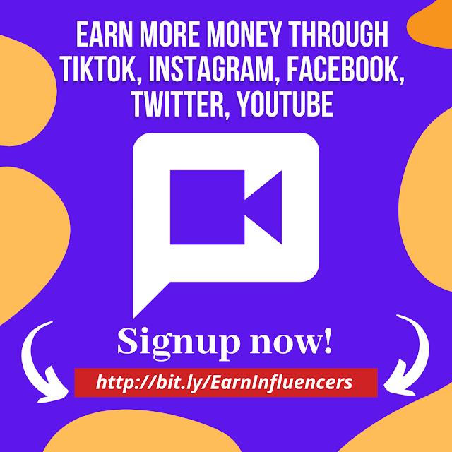 Earn more money via influencer marketing tiktok, Instagram, Facebook