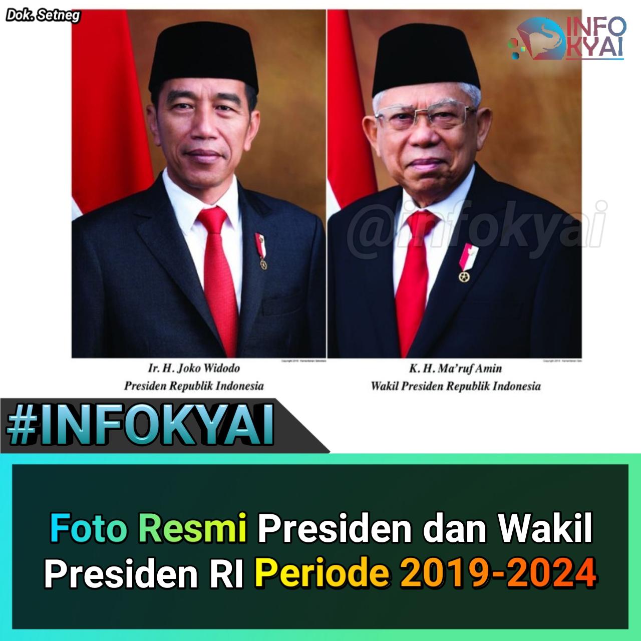 Foto Resmi Presiden Dan Wakil Presiden Ri Periode 2019 2024 Berita Viral Hari Ini Lowongan Kerja Hari Ini