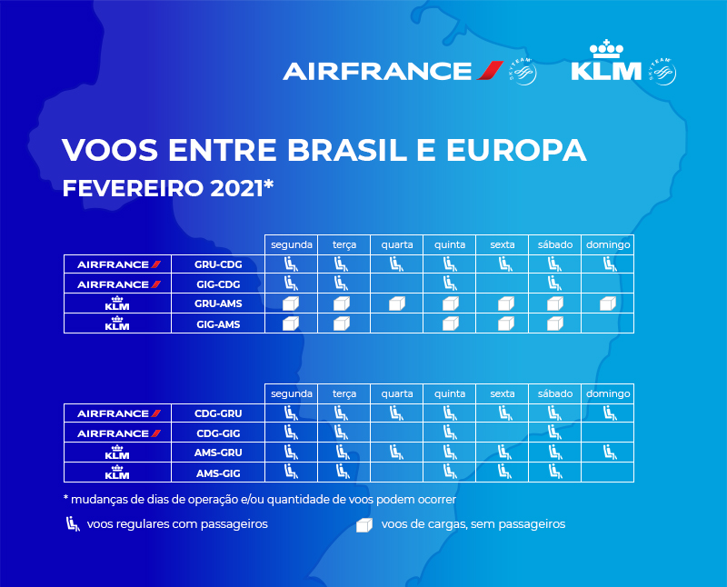 Air France divulga como será a operação entre Brasil e Europa em fevereiro | É MAIS QUE VOAR