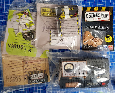 Escape Room The Game Review by Goliath Games box contents