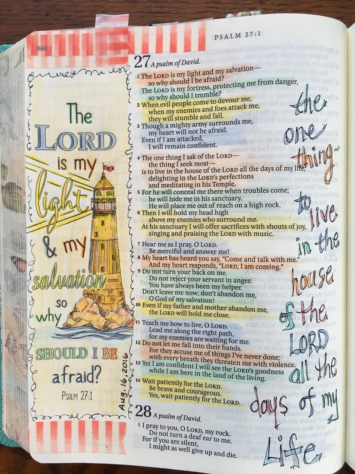 Journeys Of Faith Psalm 27 Devotion