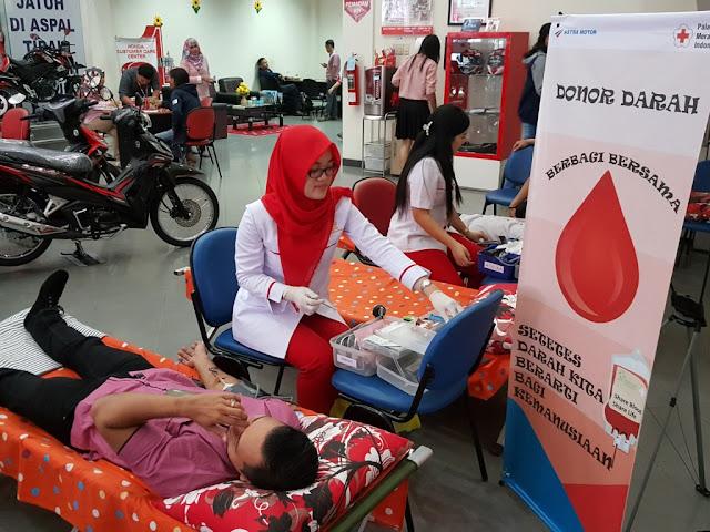 Donor Darah Astra Motor Sumsel di Hari Kasih Sayang