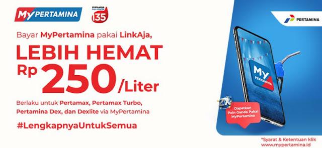 Promo Beli BBM Hemat dari www.linkaja.id Bersama dengan MyPertamina dan List SPBU Pertamina yang Telah Terkoneksi
