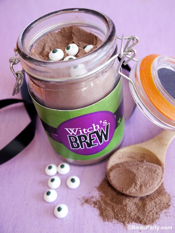 DIY Witch's Brew Recipe | Pumpkin Spice Hot Cocoa Mix - BirdsParty.com