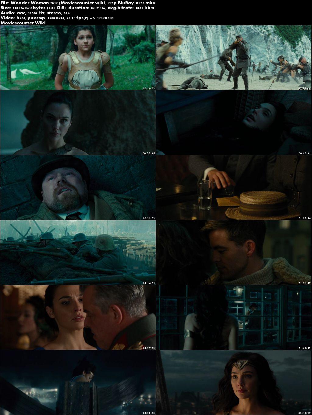 Screen Shots Wonder Woman 2017 English HD 720p