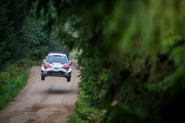 Kalle Rovanpera in Toyota Yaris WRC car