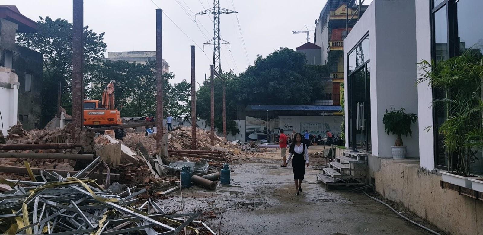 Tiến độ làm đường 40m dự án 622 Minh Khai