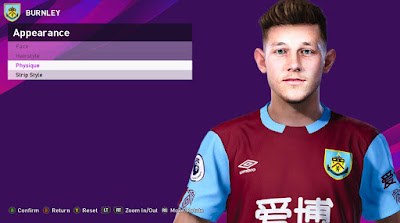 PES 2020 Faces Josh Brownhill by Rachmad ABs