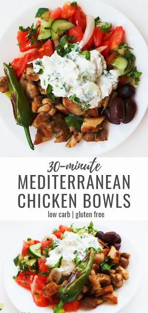 Mediterranean Chicken Bowls | Meal Prep, Low-Carb & Gluten-Free