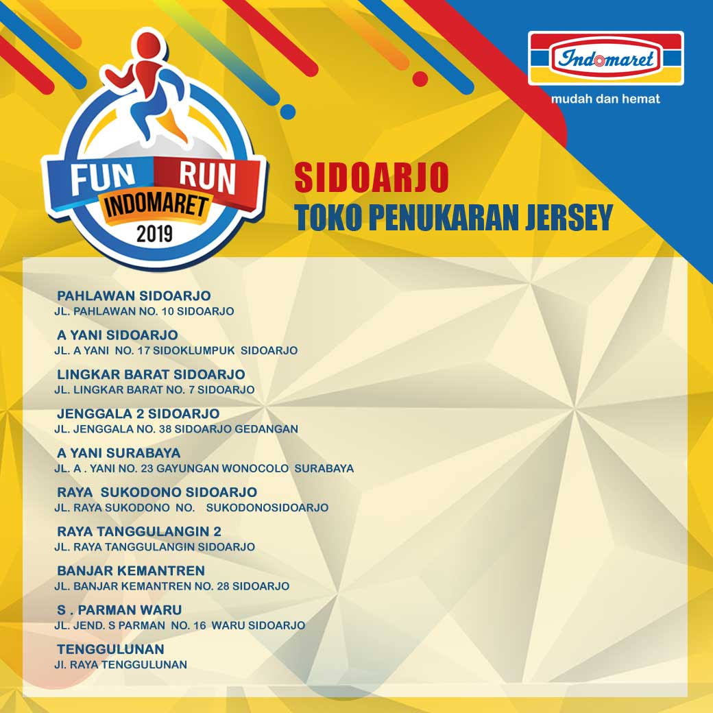 Ticket Box - Fun Run Indomaret - Sidoarjo • 2019