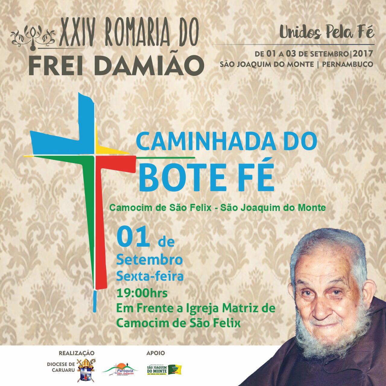 c2093626a6 ROMARIA  Caminhada do Bote Fé 2017 acontece na próxima sexta-feira ...
