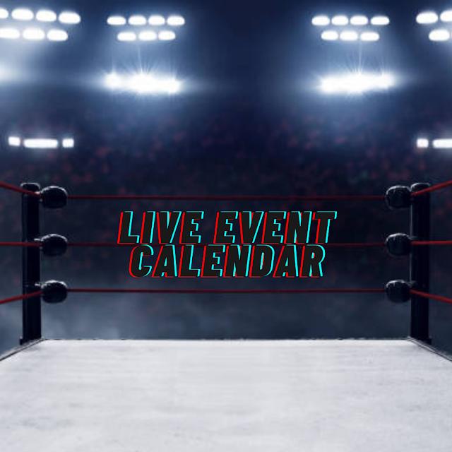 2020 Wrestling Event Calendar