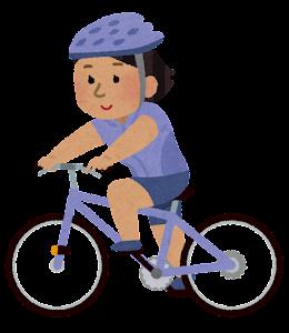 サイクリングをする人のイラスト(東南アジア人女性)