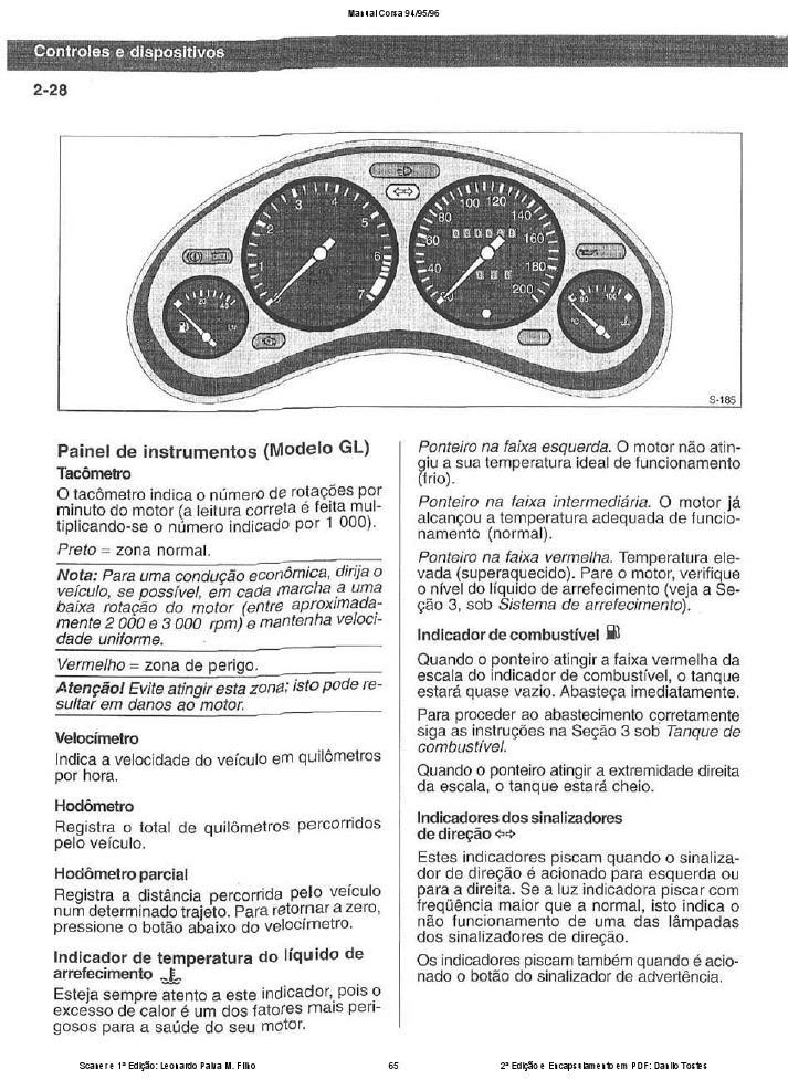 MANUAIS DO PROPRIETÁRIO: MANUAL DO CORSA 94 95 96