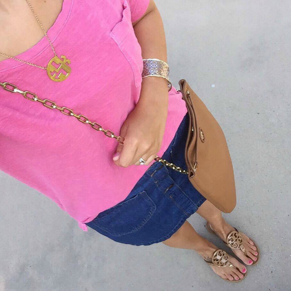 monogram necklace, kendra scott