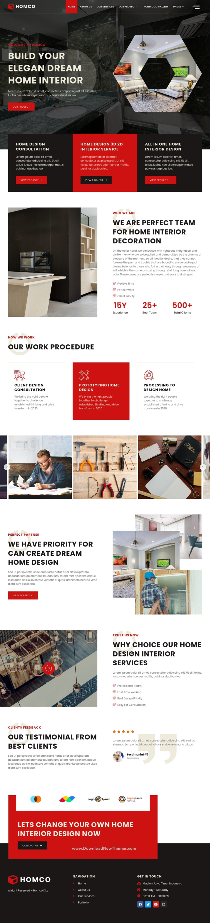Interior Design Services Elementor Template Kit