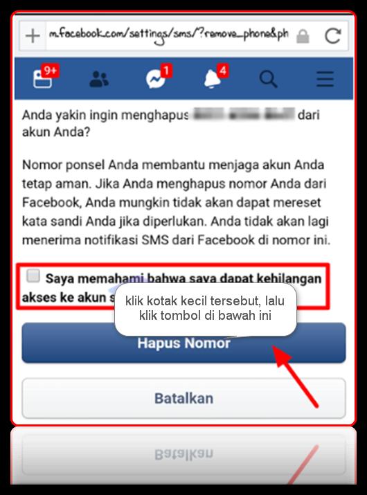 cara mengubah no telepon di facebook