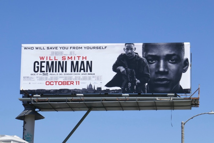 Gemini Man movie billboard