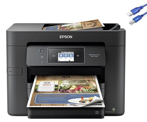 2021 Epson Workforce Pro WF-3733 Wireless Printer